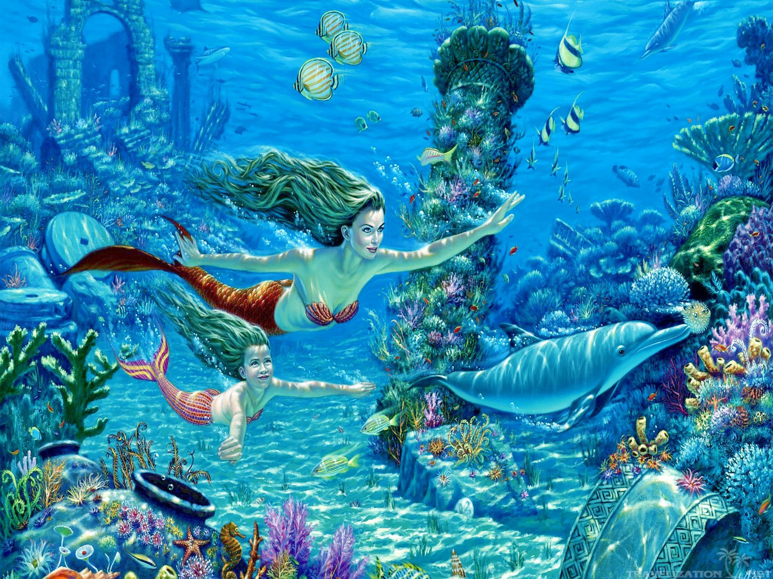 Underwater wallpaper 68 immagini - Underwater desktop background ...