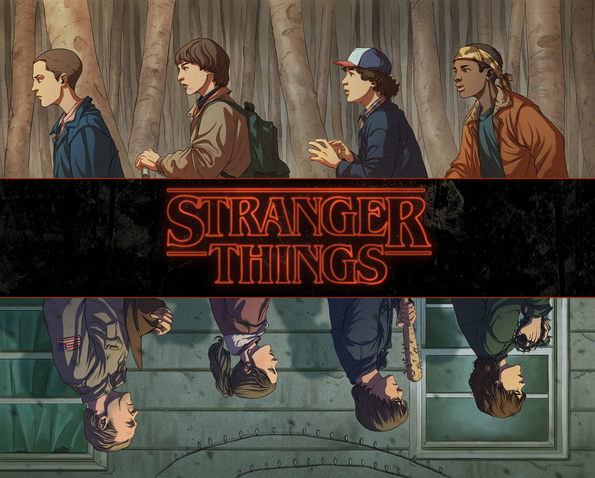 Stranger Things Wallpaper 72 Immagini Inspirational Interior Style