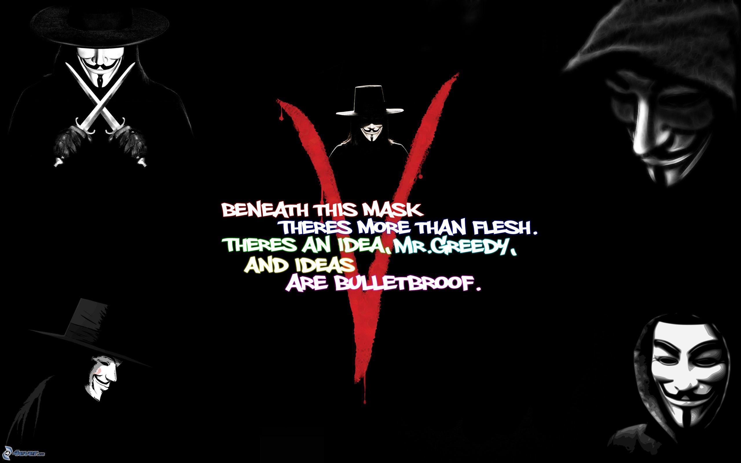 V per Vendetta Wallpap...V For Vendetta Mask Wallpaper